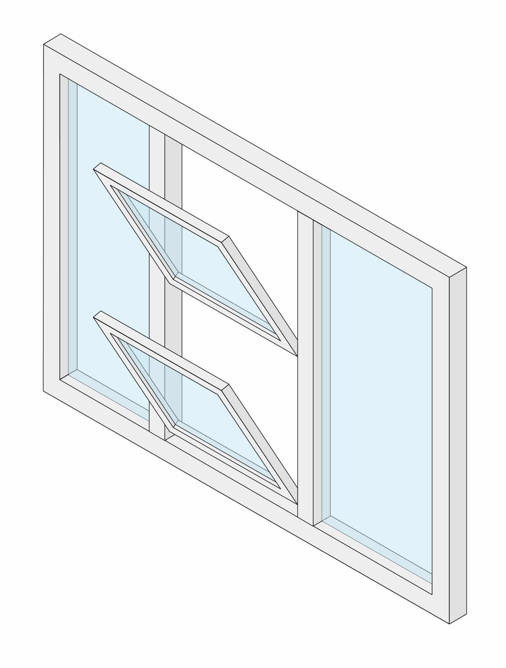 Double-hung window sunroom