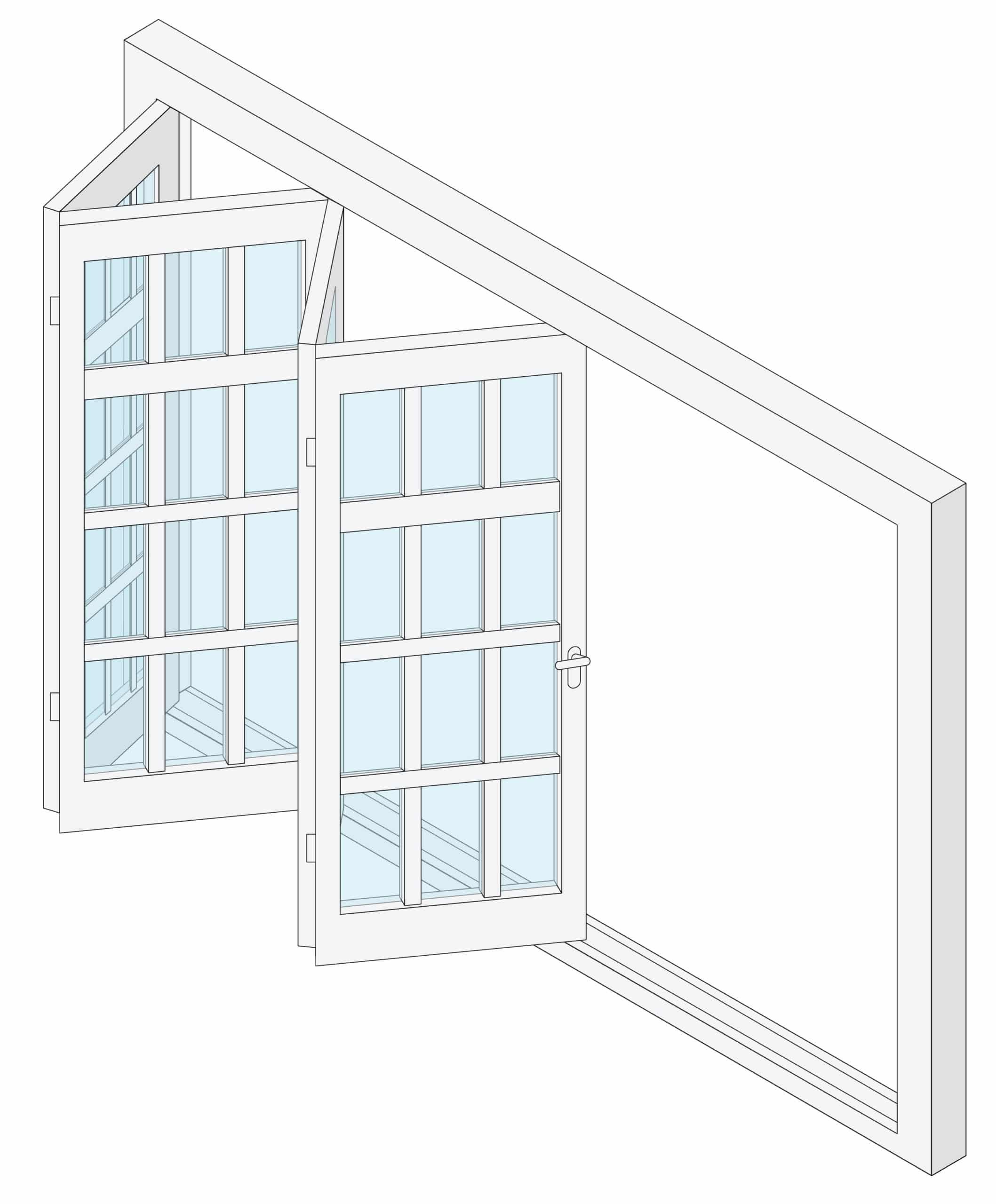 Folding door sunroom